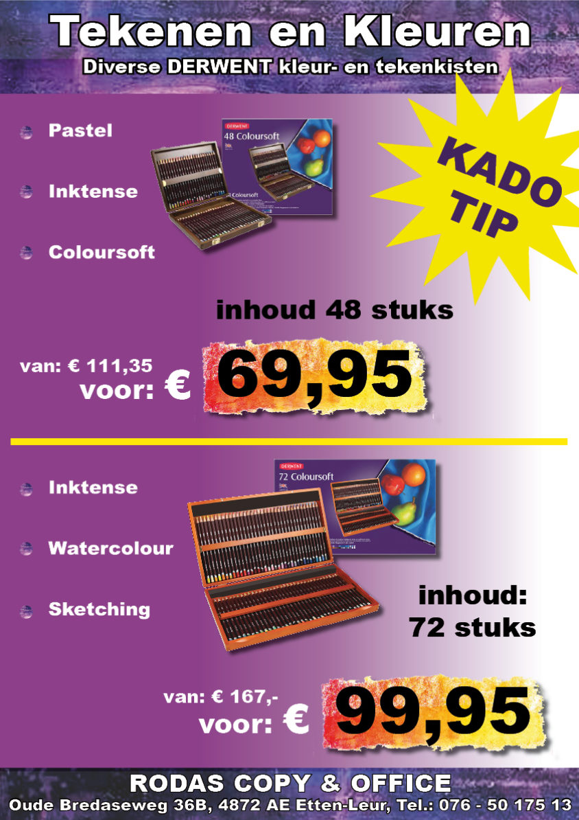 Derwent kleurdozen tekenkisten | rodas-copy.nl